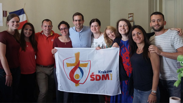Patrícia (de óculos) com outros voluntários da Jornada / Foto: Arquivo Pessoal