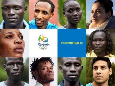 Os integrantes da equipe Olímpica de Atletas Refugiados que disputará os Jogos do Rio 2016 / Foto: ACNUR