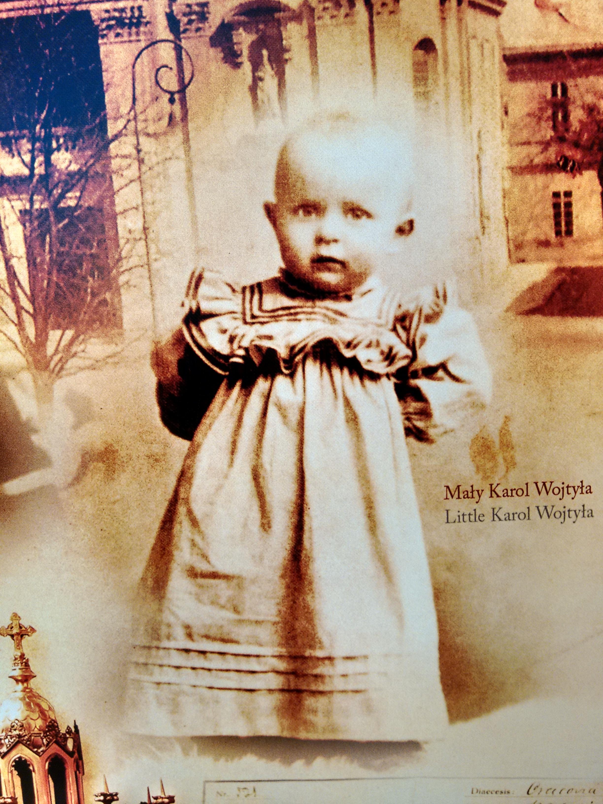 São João Paulo II quando criança / Foto: Canção Nova