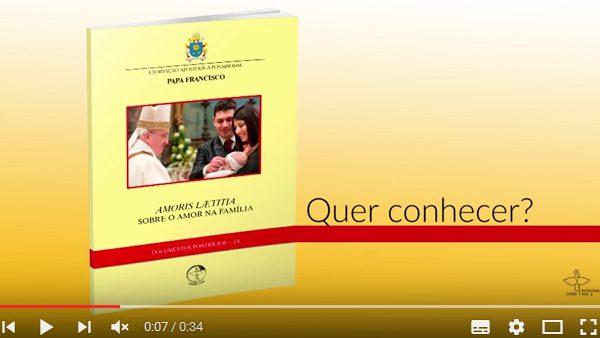 Vídeos com conteúdo sobre a Exortação Apostólica Amoris Laetitia pode ser acessado no Youtube./ Foto: Reprodução