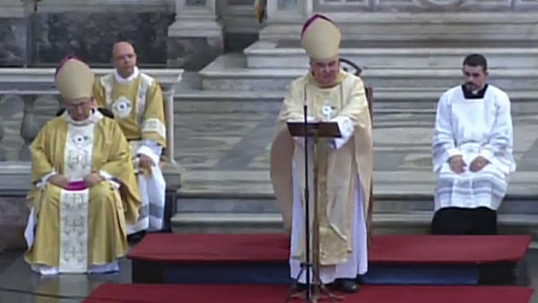 Dom Orani Tempesta preside Missa no Congresso Eucarístico / Foto: Reprodução TV Nazaré