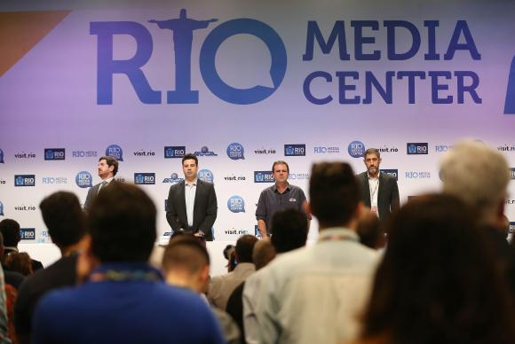 No Rio Media Center, 26 mil jornalistas circularam diariamente para a cobertura diária das competições / Foto: Roberto Castro - ME