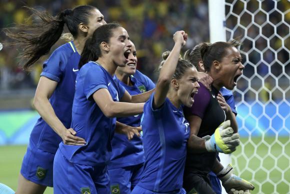 Brasil vence Austrália nos pênaltis, apesar de ter dominado a partida no tempo normal e na prorrogação / Foto: Reuters