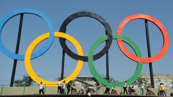 Símbolo das Olimpíadas representa unidade entre os cinco continentes / Foto: Tânia Rêgo/Agência Brasil