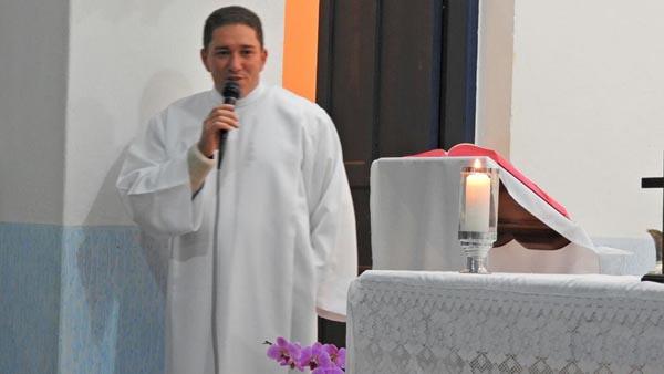 Seminarista Odair, que será ordenado diácono dia 7 de agosto / Foto: Arquivo pessoal