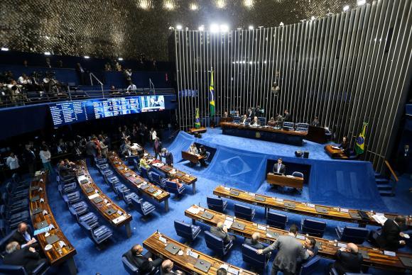 Embora a votação seja aberta, ela será eletrônica, no painel, e não haverá chamada nominal para que os senadores pronunciem seus votos oralmente / Foto: Marcelo Camargo - Agência Brasil