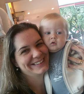Isabela Franco e seu filho mais novo, Matheus./ Foto: Arquivo Pessoal.