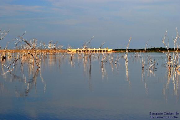 Açude Castanhão, um dos três maiores do estado do Ceará / Foto: Everardo Onofre - Ministério da Integração Nacional