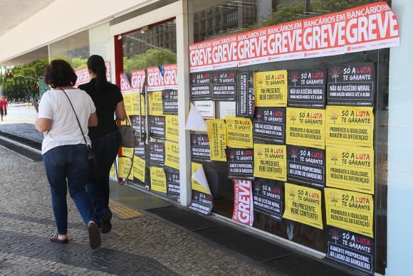 Greve dos bancários completa 30 dias./ Foto: Agência Brasil