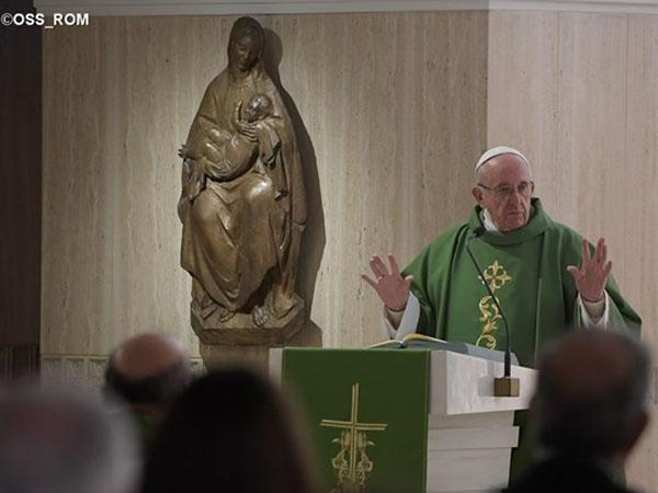 Papa durante homilia na Casa Santa Marta / Foto: L'Osservatore Romano