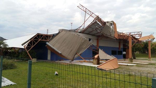 Destruição em Santa Catarina após tempestades / Foto: Ricardo Ângelo Volpato - SDC SC