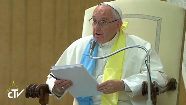 Papa na audiência com delegação luterana que fazperegrinação ecumênica ao Vaticano / Foto: Reprodução CTV