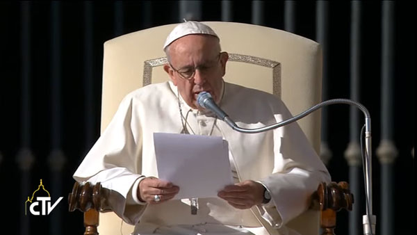 Papa Francisco fala das obras de misericórdia relacionadas aos doentes e aos presos / Foto: Reprodução CTV