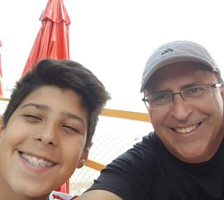 João Eudes e o filho Filipe./ Foto: Arquivo pessoal.