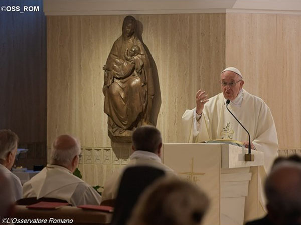 Papa Francisco em homilia na Casa Santa Marta / Foto: L'Osservatore Romano