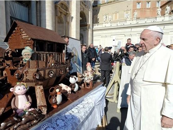Arca demorou três dias a ser concluída e tem mais de 50 representações de animais / Foto: L'Osservatore Romano