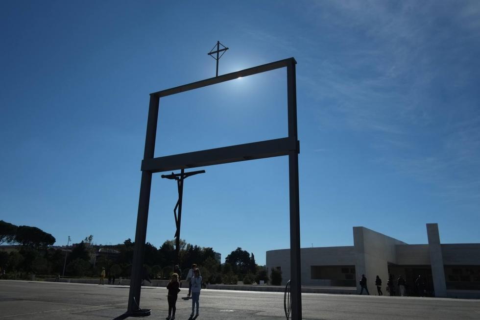 """O Pórtico Jubilar resulta da intenção de dotar o Santuário de """"um elemento visual"""" que possa celebrar os 100 anos de Fátima / Foto: Fatima.pt"""