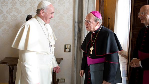 Dom Javier em encontro com o Papa Francisco no Vaticano / Foto: Flickr Opus Dei