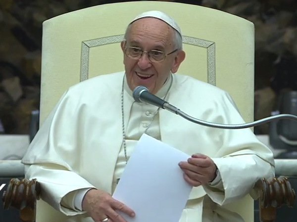 Papa na catequese desta quarta-feira, 14 / Foto: Reprodução CTV