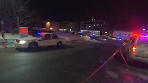 Movimentação policial no local do atentado em Quebec / Foto: Reprodução Reuters