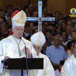 Dom Orlando Brandes faz sua primeira homilia como arcebispo de Aparecida (SP)