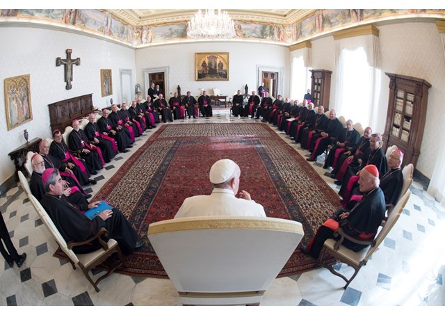 Francisco reunido com bispos do Chile / Foto: Rádio Vaticano