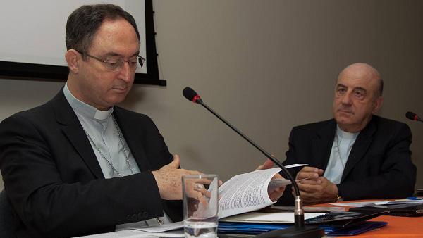 Dom Sérgio da Rocha, presidente da CNBB, e Dom Murilo Krueger, seu vice, em reunião do Consep / Foto: Maurício Sant´Ana - CNBB