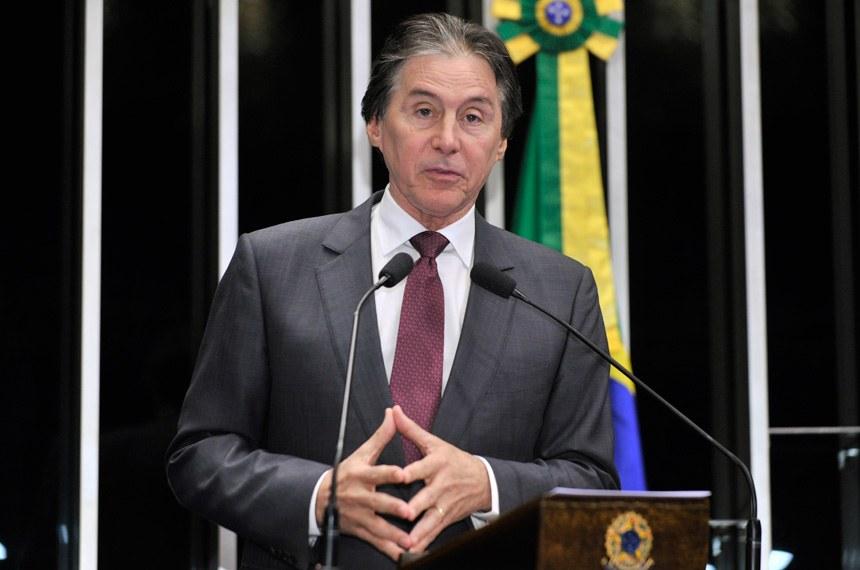 Eunício Oliveira, novo presidente do Senado / Foto: Waldemir Barreto-Agência Senado