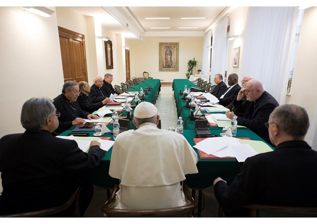 Papa em reunião com Conselho de Cardeais / Foto: Rádio Vaticano