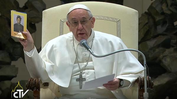 Papa Francisco durante a Catequese desta quarta-feira, 8 / Foto: Reprodução CTV