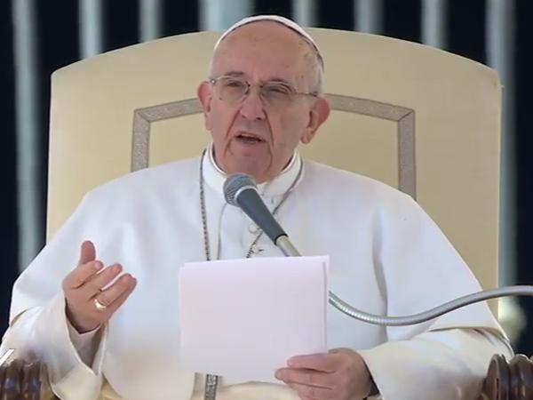 Papa Francisco na catequese desta quarta-feira, início da Quaresma / Foto: Reprodução CTV