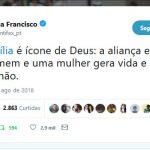 No Twitter, Papa destaca aliança matrimonial entre homem e mulher