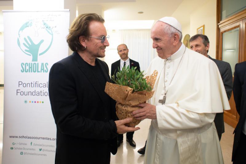 d44283b4a Papa recebe Bono Vox no Vaticano / Foto: Vatican Media