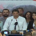 Fernando Haddad discursa logo após ser derrotado nas eleições