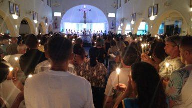 Vigília de solidariedade reza por vítimas da tragédia em Brumadinho