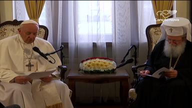 Na Bulgária, Papa se encontra com líderes da Igreja Ortodoxa