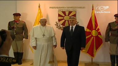 Papa visita a Macedônia do Norte para pregar a unidade