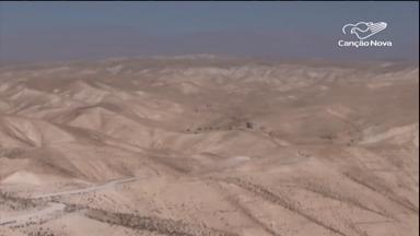 Peregrinos brasileiros enfrentam o calor do Deserto da Judeia