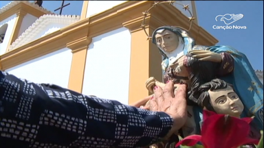 Em BH, fiéis participam da Festa de Nossa Senhora da Piedade
