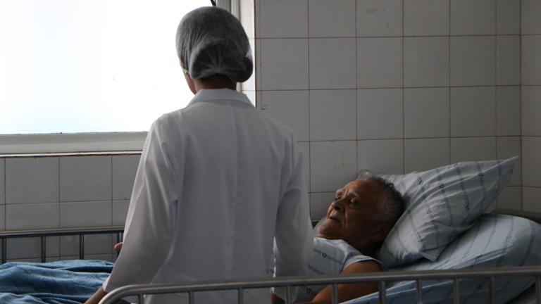 Ala da enfermaria no Hospital Santo Antônio, também conhecido como Hospital Irmã Dulce / Foto: Rogéria Nair - Canção Nova