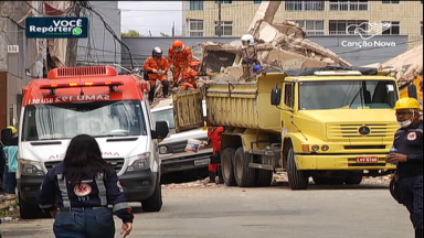 Buscas por sobreviventes seguem após queda de prédio em Fortaleza