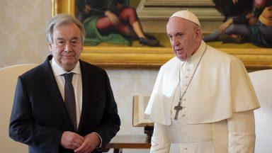 Papa e secretário-geral da ONU pedem fim da indiferença
