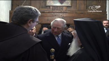 Visita da realeza: Príncipe Charles visita Belém e membros da Igreja