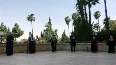 Representantes de diversas religiões se unem para orar na Terra Santa