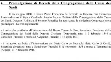 Papa assinou: Igreja vai ganhar três novos santos