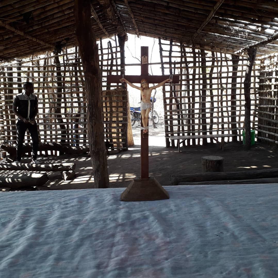 Capela da aldeia de Mutche / Foto: Arquivo Pessoal