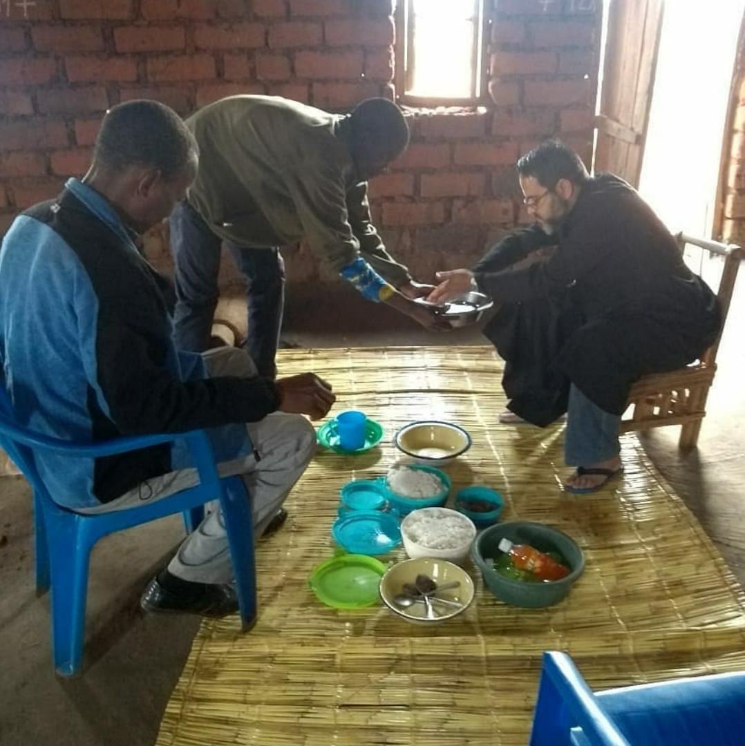 Almoço na aldeia de Chinanje / Foto: Arquivo Pessoal
