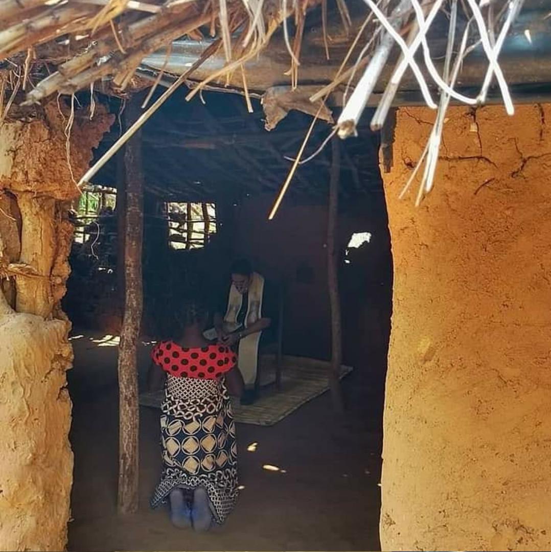 Confissão na aldeia de Chinanje / Foto: Arquivo Pessoal