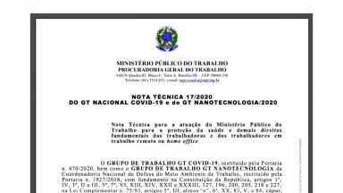Ministério Público do Trabalho faz recomendações para o home office