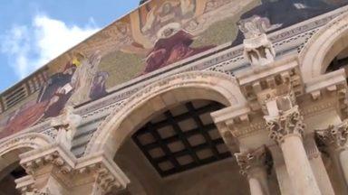 Basílica do Getsemani realiza missa após atos de vandalismo